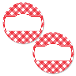 Gingham - Cherry Red