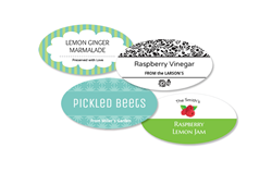 36 Oval Canning Labels - 1.6 inch