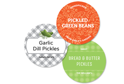 12 lrg Circle Canning labels - 2.4 inch