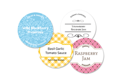 20 Sm Circle Canning labels - 1.9 inch